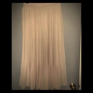 Beautiful Pink Chiffon Maxi Skirt